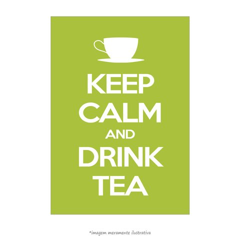 Poster Keep Calm and Drink Tea - QueroPosters.com