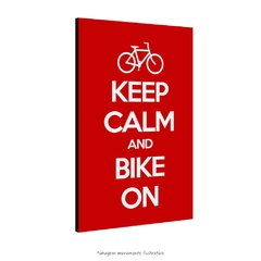 Poster Keep Calm And Bike On na internet