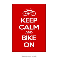 Poster Keep Calm And Bike On - QueroPosters.com
