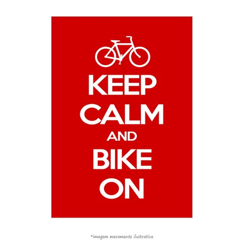 Poster Keep Calm And Bike On