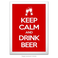 Poster Keep Calm And Drink Beer - comprar online