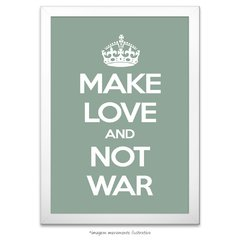 Poster Make Love And Not War - comprar online