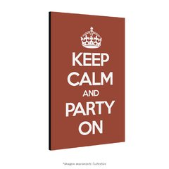 Poster Keep Calm And Party On na internet