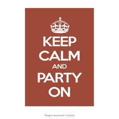 Poster Keep Calm And Party On - QueroPosters.com