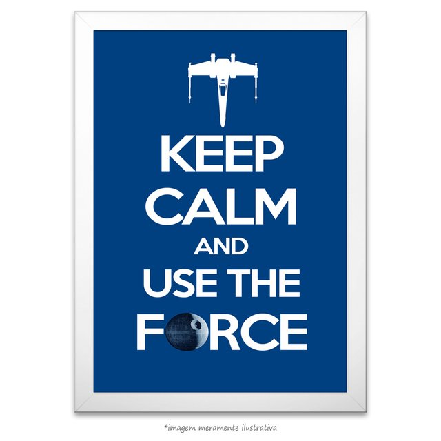 Poster Keep Calm and Use the Force - comprar online
