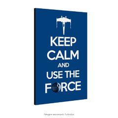 Poster Keep Calm and Use the Force na internet