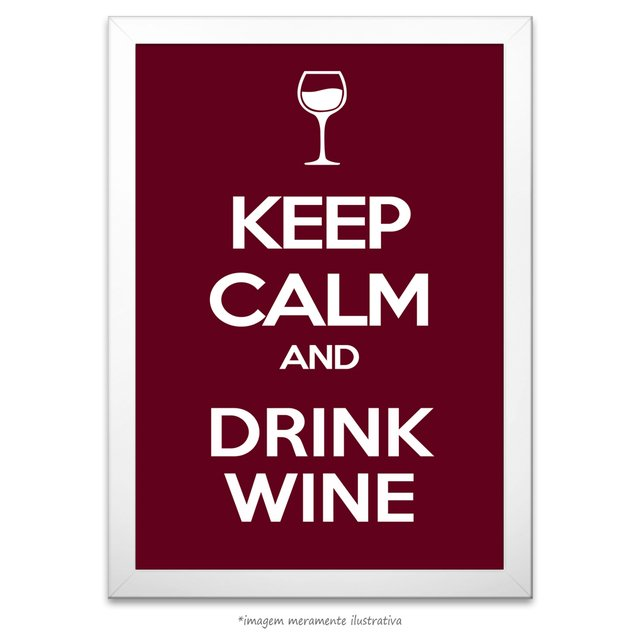 Poster Keep calm and Drink Wine - comprar online