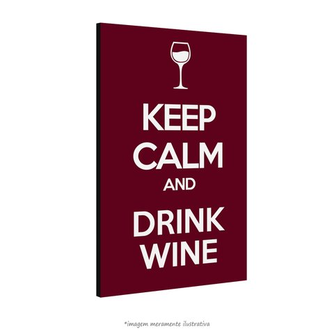 Poster Keep calm and Drink Wine na internet
