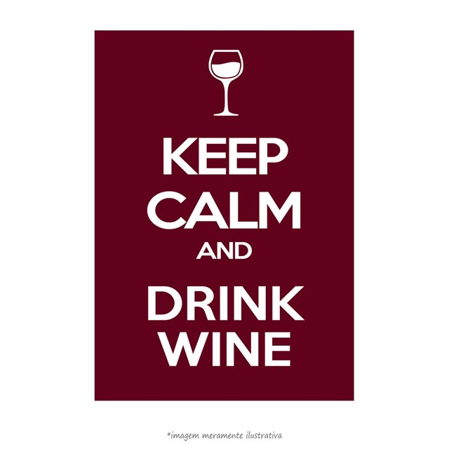 Poster Keep calm and Drink Wine - QueroPosters.com
