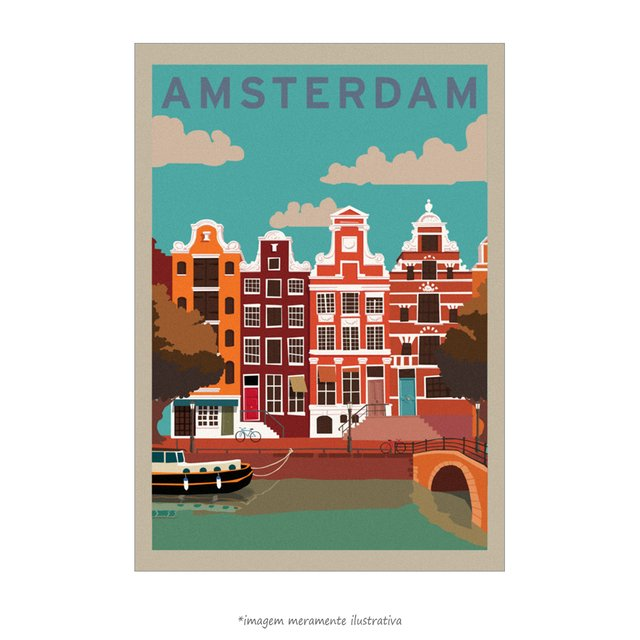 Poster Amsterdam - QueroPosters.com