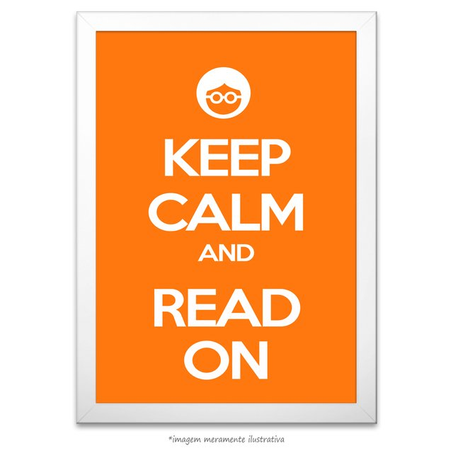 Poster Keep Calm and Read On - comprar online