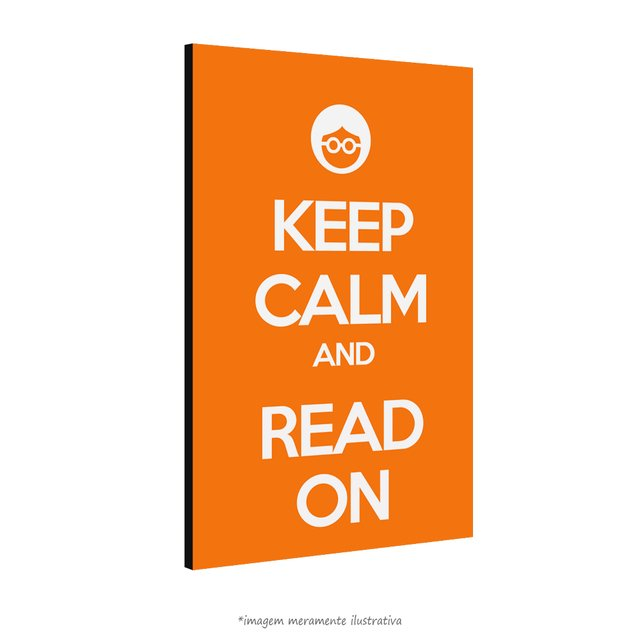 Poster Keep Calm and Read On na internet