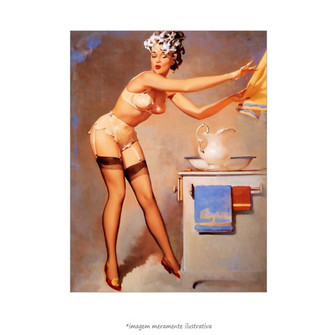 Poster Pin-up Girl: - Eye Catcher