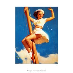 Poster Pin-up Girl: - Anchors A-Wow - QueroPosters.com