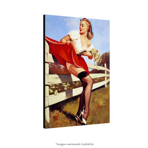 Poster Pin-up Girl: Red Dress - QueroPosters.com