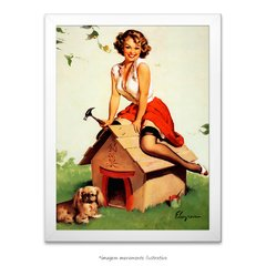Poster Pin-up Girl: Home Sweet Home - comprar online
