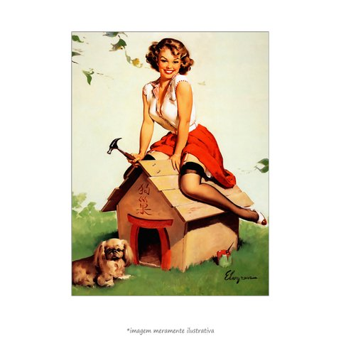 Poster Pin-up Girl: Home Sweet Home