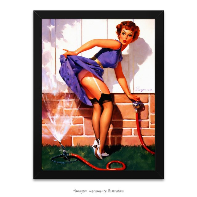 Poster Pin-up Girl: A Near Miss