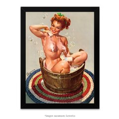 Poster Pin-up Girl: Bubbling Over