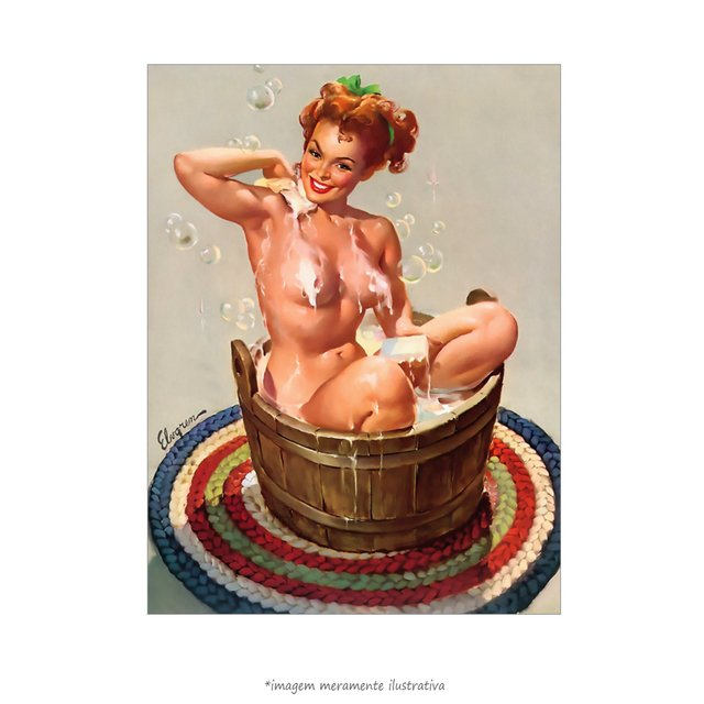 Poster Pin-up Girl: Bubbling Over - QueroPosters.com