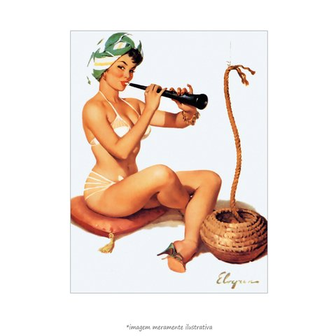 Poster Pin-up Girl: Charming