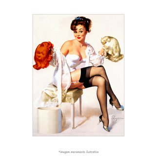 Poster Pin-up Girl: Gents Prefer - QueroPosters.com