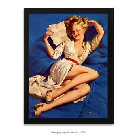 Poster Pin-up Girl: He Thinks I'm Too Good To Be True