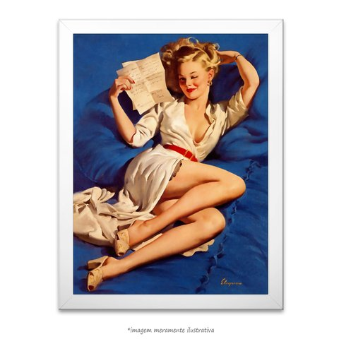 Poster Pin-up Girl: He Thinks I'm Too Good To Be True - comprar online