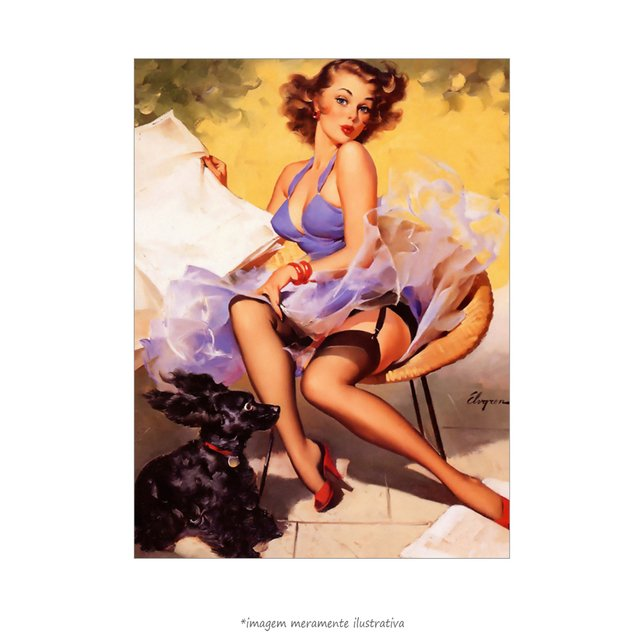 Poster Pin-up Girl: Hold Everything Skirting The Issue