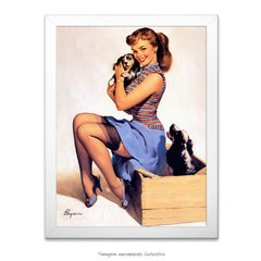 Poster Pin-up Girl: Puppy Love - comprar online