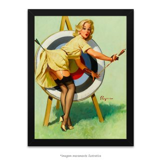 Poster Pin-up Girl: Right On Target