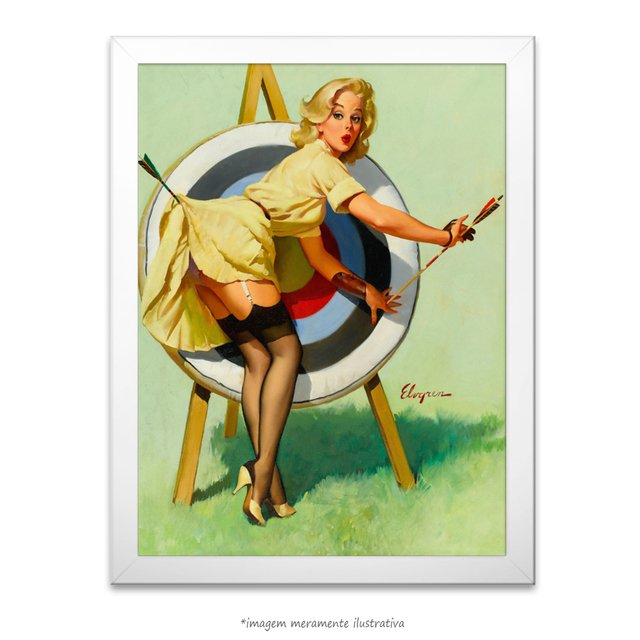 Poster Pin-up Girl: Right On Target - comprar online