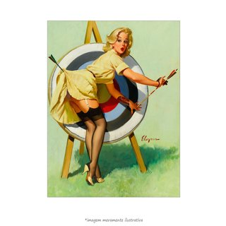 Poster Pin-up Girl: Right On Target - QueroPosters.com
