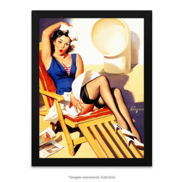 Poster Pin-up Girl: Skirts Ahoy - comprar online
