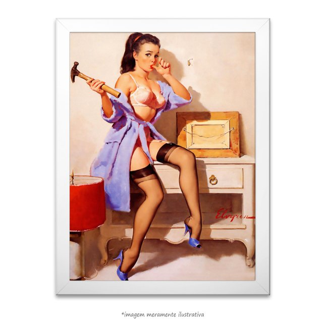 Poster Pin-up Girl: The Wrong Nail - comprar online