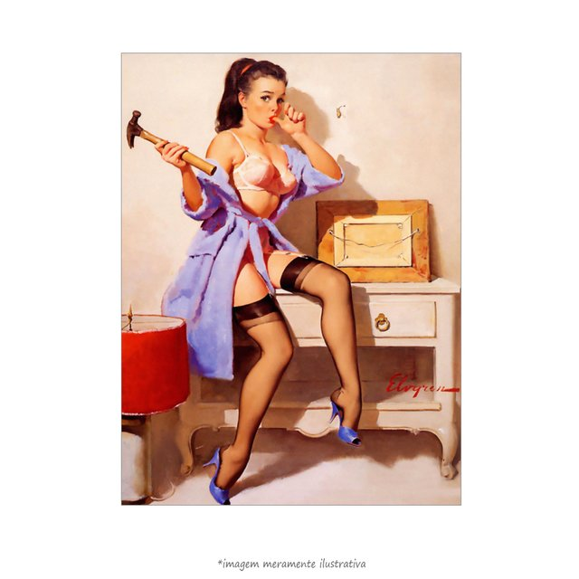Poster Pin-up Girl: The Wrong Nail - QueroPosters.com
