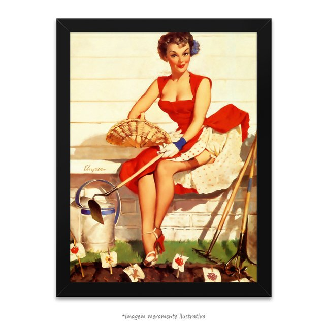 Poster Pin-up Girl: Worth Cultivating - comprar online