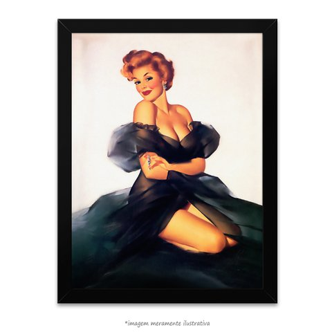 Poster Pin-up Girl: My Black Dress