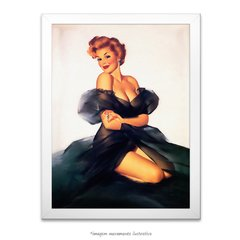 Poster Pin-up Girl: My Black Dress - comprar online