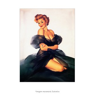 Poster Pin-up Girl: My Black Dress - QueroPosters.com