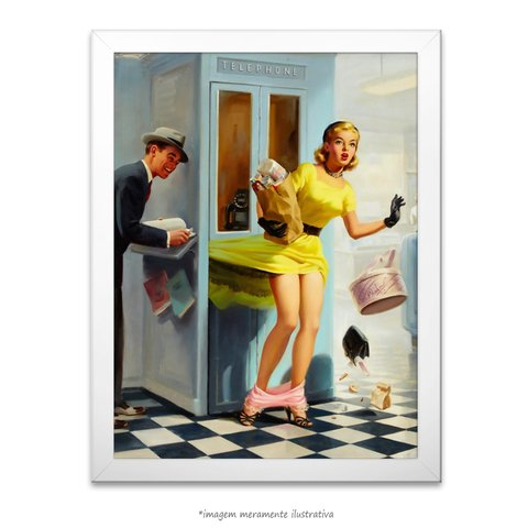 Poster Pin-up Girl: Bad Phone - comprar online