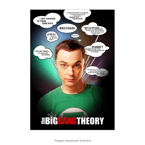 Poster The Big Bang Theory - Frases Memoráveis - QueroPosters.com