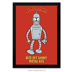 Poster Futurama - Bite My Shiny Metal Ass