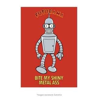Poster Futurama - Bite My Shiny Metal Ass - QueroPosters.com