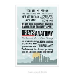 Poster Grey's Anatomy - Frases - QueroPosters.com