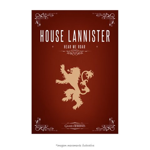 Poster Game Of Thrones: House Lannister