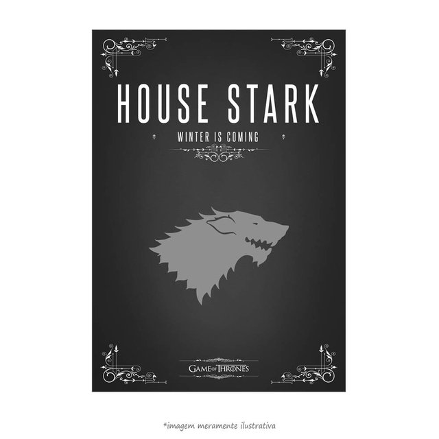 Poster Game Of Thrones: House Stark - QueroPosters.com