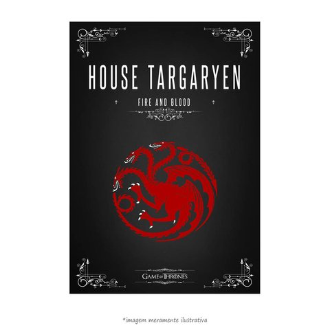 Poster Game Of Thrones: House Targaryen