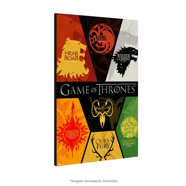 Poster Game Of Thrones: Houses na internet