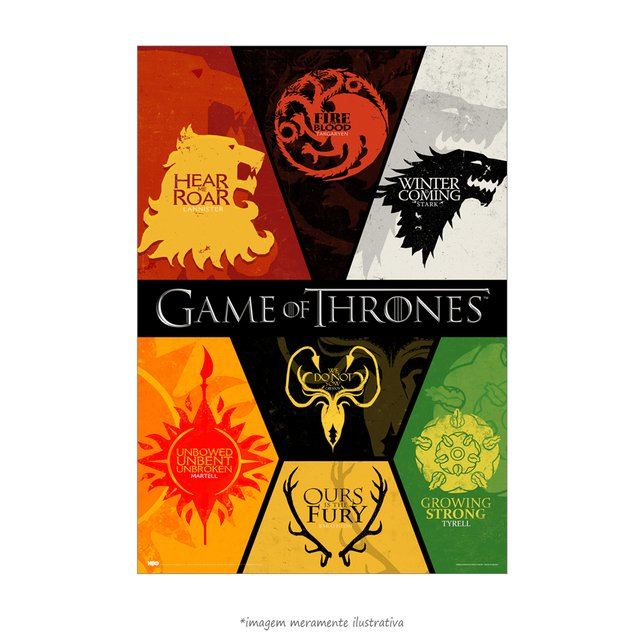 Poster Game Of Thrones: Houses - QueroPosters.com